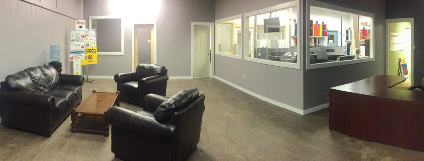 customer area at Legacy Signs